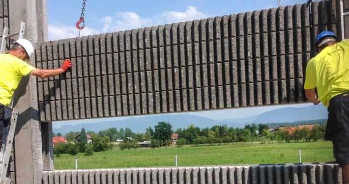 Lärmschutzwand in Bau